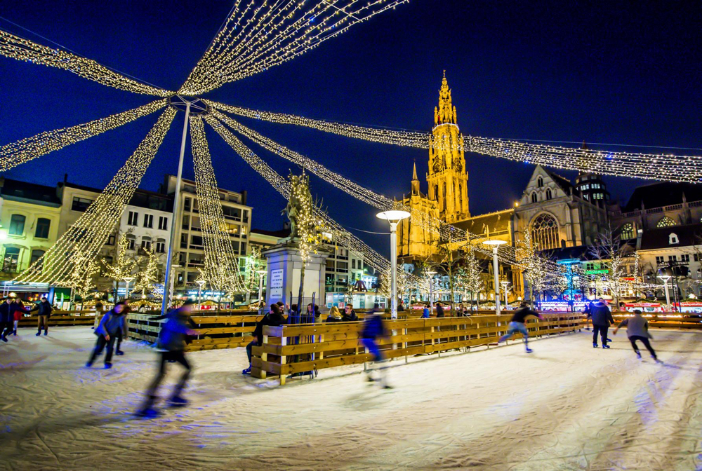 Ice skating in Antwerp