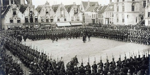 The Grote Markt in Veurne Grote Market in the First World War